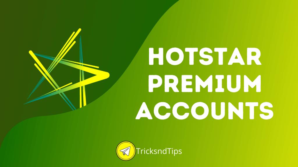 hotstar Premium accounts