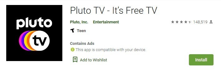 play store pluto tv