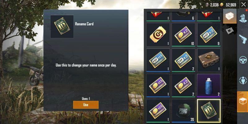 open inventory