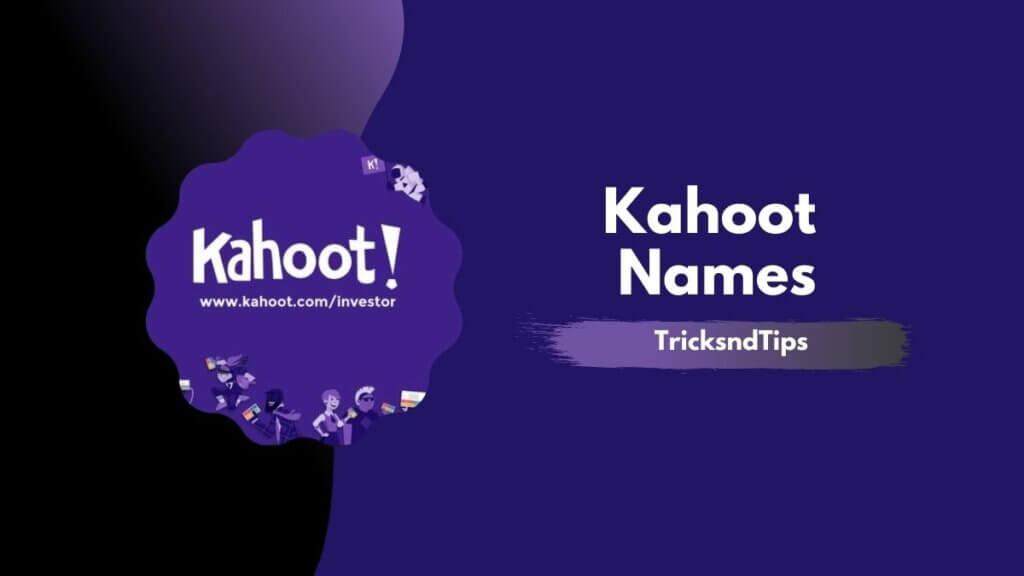 kahoot names
