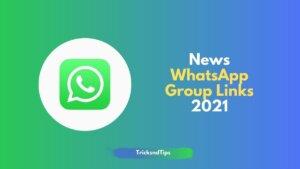 News WhatsApp Groups