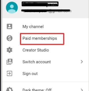 Click on paid membership