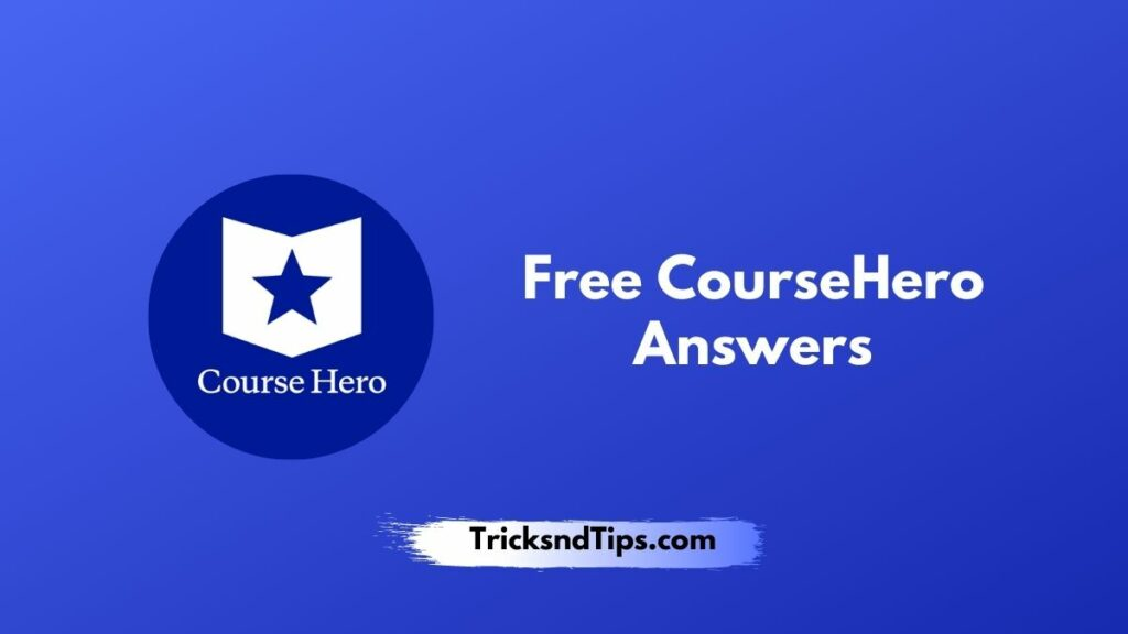 image of Free CourseHero Answers