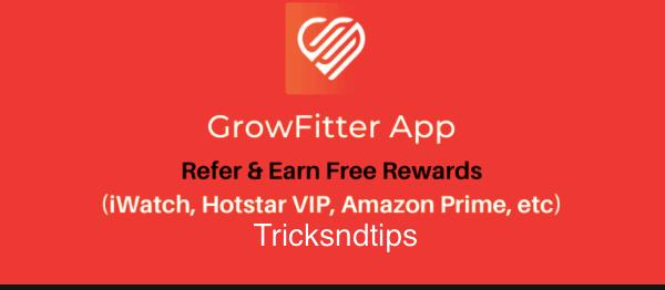 get hotstar premium using growfitter app