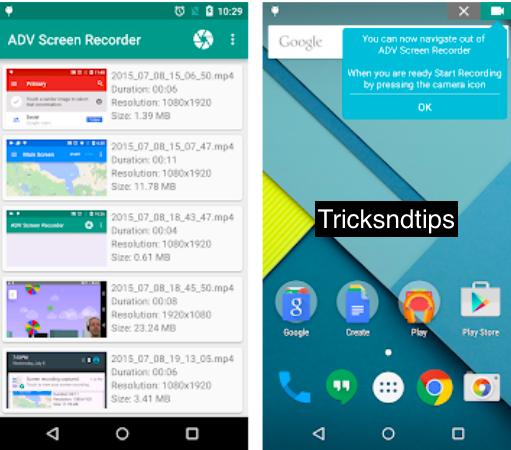 image of Screenshots of ADV Screen Recorder mod apk