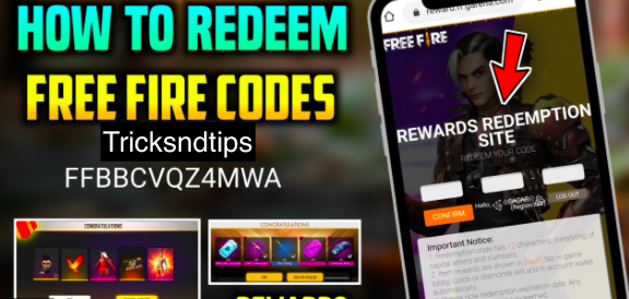 image of Garena Free Fire to redeem the code